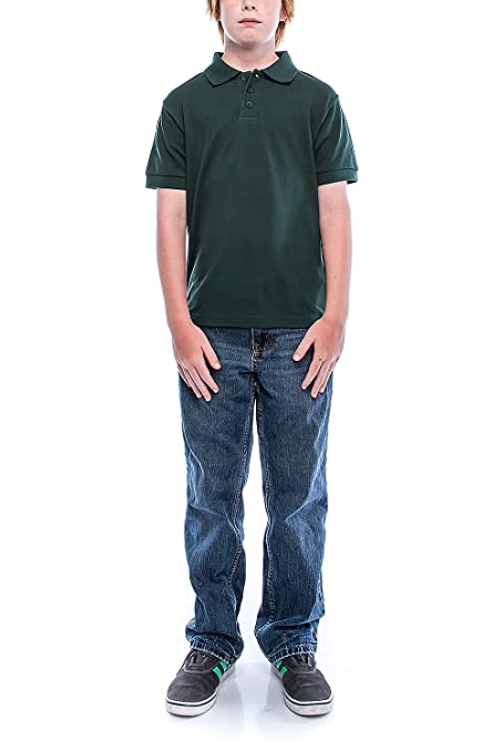 37712046 Amazon.com: GENx Boys Big Boy's Short Sleeve 3 Button Plain Polo Shirts for Boys  1100: Clothing