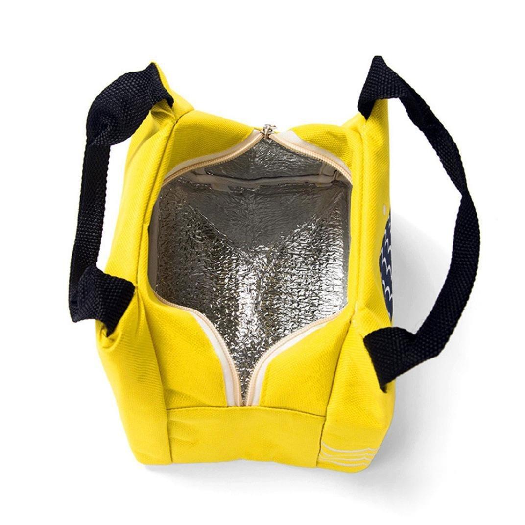 ZARLLE Bolso De Almuerzo Aislado Portable Lunch Bag Tote Picnic Insulated Cooler Cremallera Organizador Caja De Almuerzo