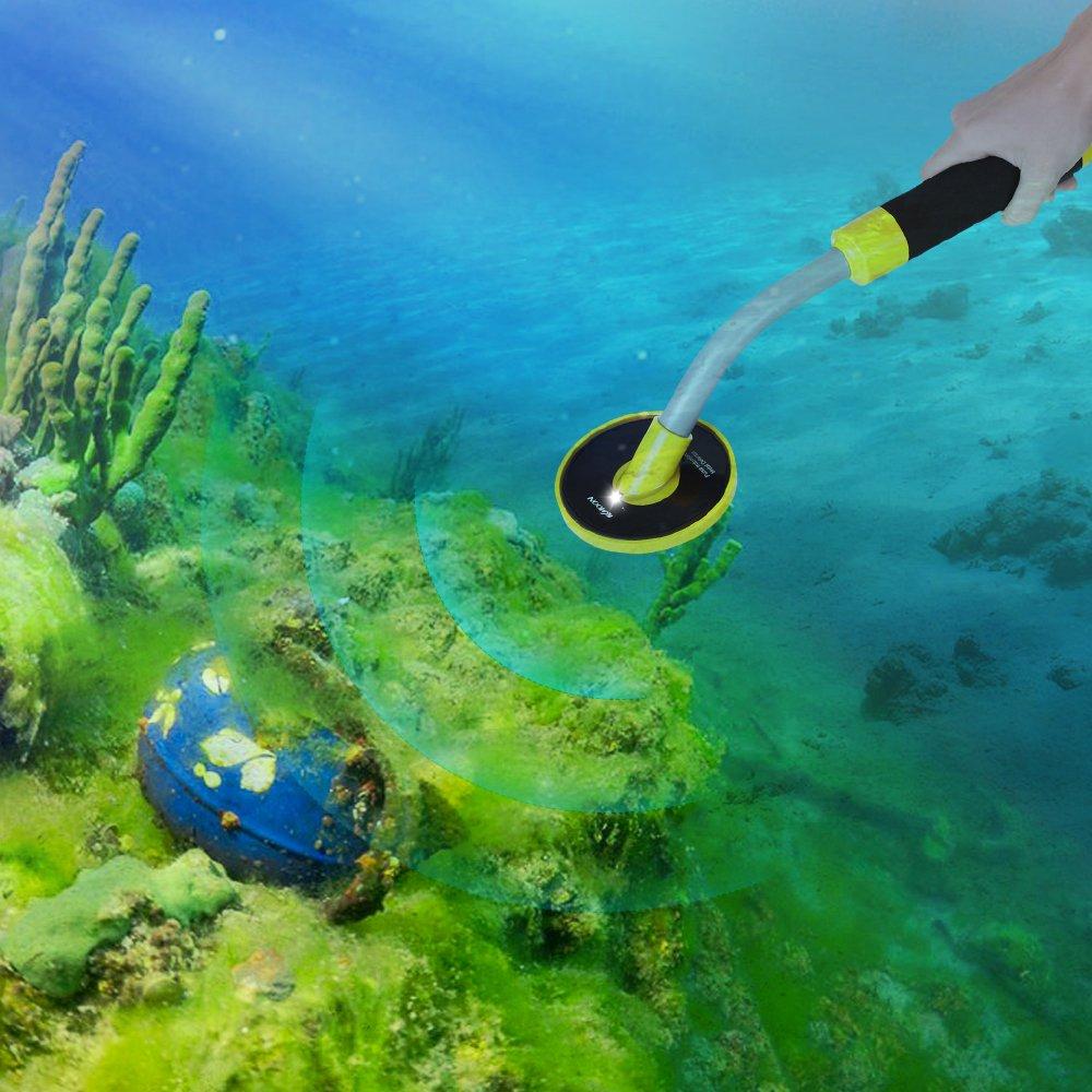 Baugger Detector De Metales Bajo El Agua Alta Sensibilidad 98Ft Impermeable Handpoints Pinpointer Pulso Inducci/ón Detector de Metales Precise Direction Tecnolog/ía pi Underwater Finding Treasure Oro
