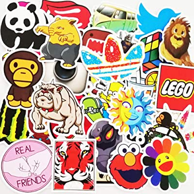 200 Pack Vinyls Sticker Decals for Mug, Cell Phone, Door, Wall, Laptop, Cars, Graffiti, Motorcycle, Bicycle, Skateboard Luggage, Water Bottle, Bumper Stickers Decal Hippie (Type D(200 Pattern 2 Pack): Automotive