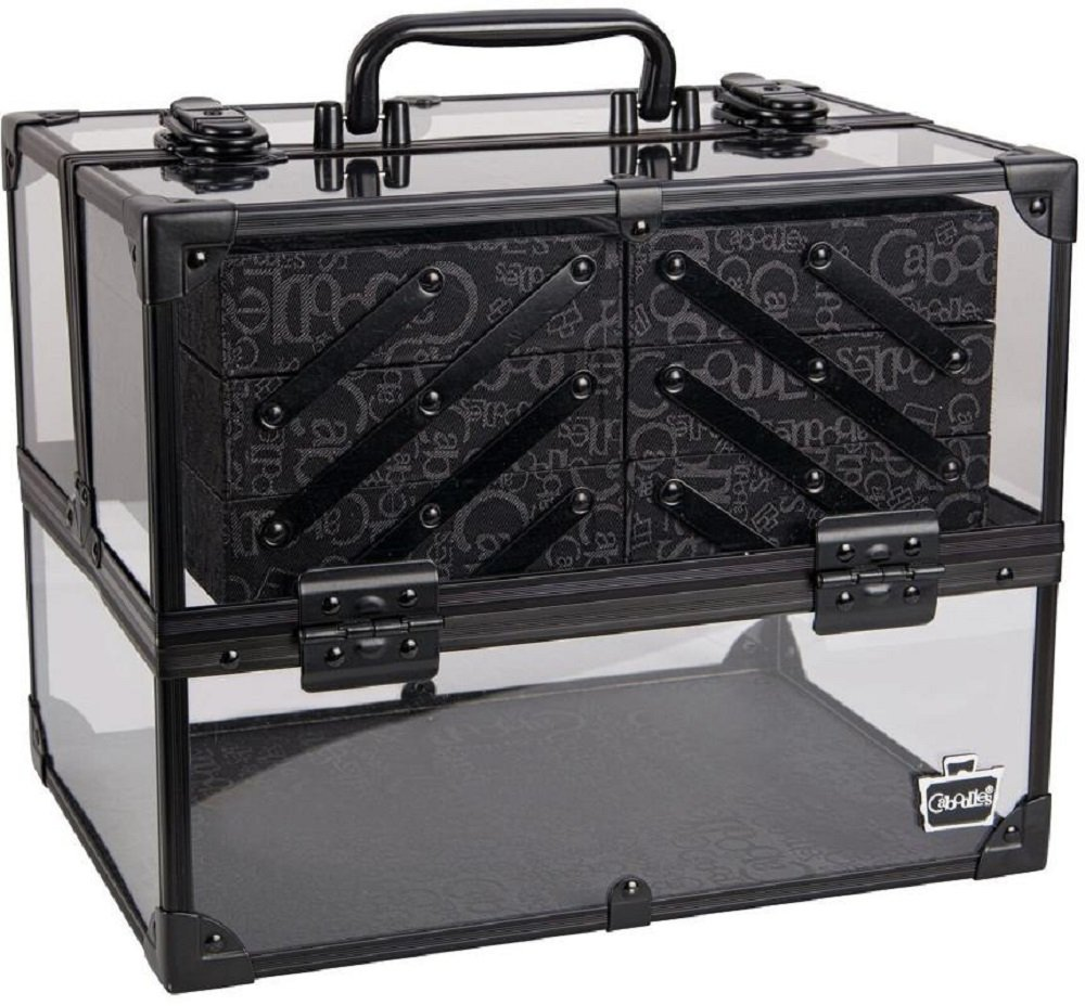 Caboodles Neat Freak 6-Tray Train Case (Clear with Black) by Caboodles