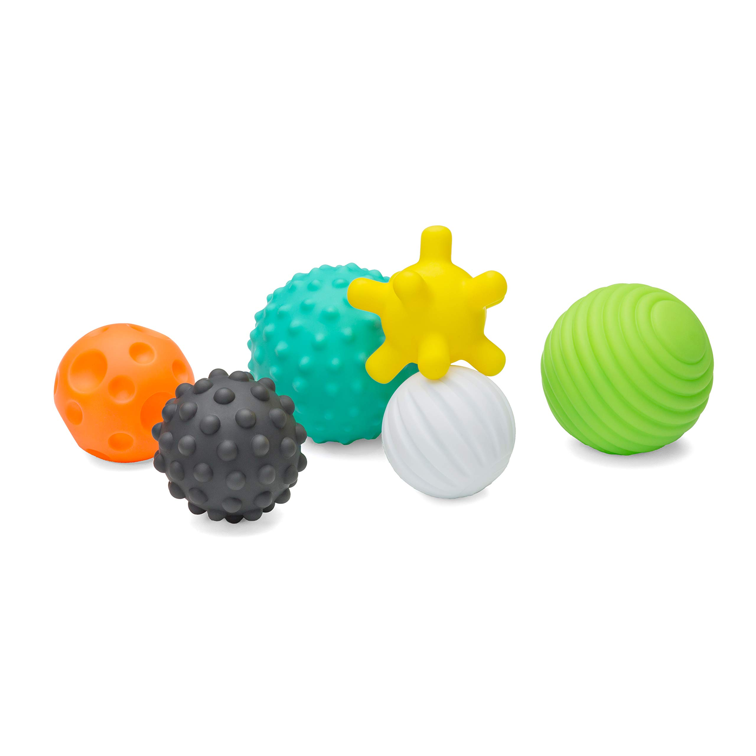 Infantino Textured Multi Ball Set - Textured Ball Set Toy for Sensory Exploration and Engagement for Ages 6 Months and up, 6 Piece Set