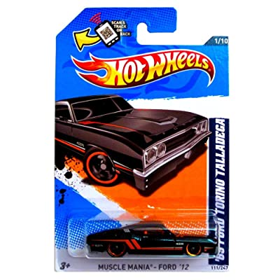 Hot Wheels, 2012 Muscle Mania, '69 Ford Torino Talladega [Black] 111/247: Toys & Games