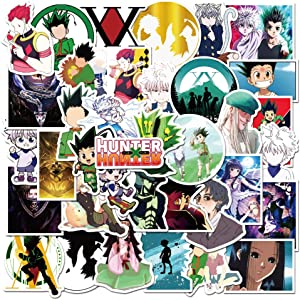 Hunter x Hunter Stickers| 50 Pcak | Vinyl Waterproof Stickers for Laptop,Bumper,Water Bottles,Computer,Phone,Hard hat,Car Stickers and Decals,(Hunter-50)