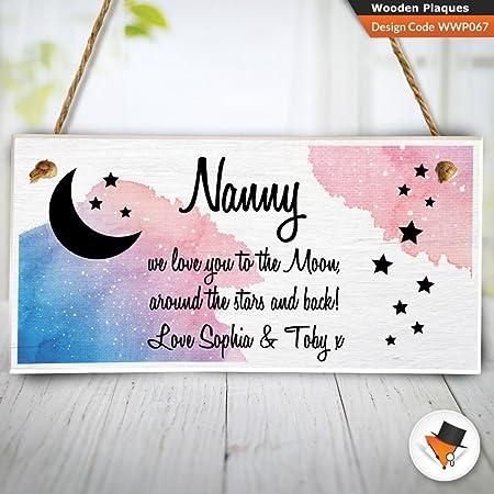 Personalizado Navidad regalo de cumpleaños abuela niñera Nan ...