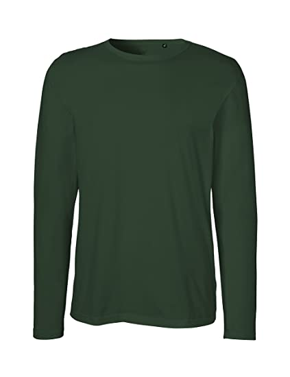 c5f8be3fbc26 Image Unavailable. Image not available for. Color: Green Cat Neutral Mens  Long Sleeve T-Shirt, 100% Organic Cotton and Fairtrade