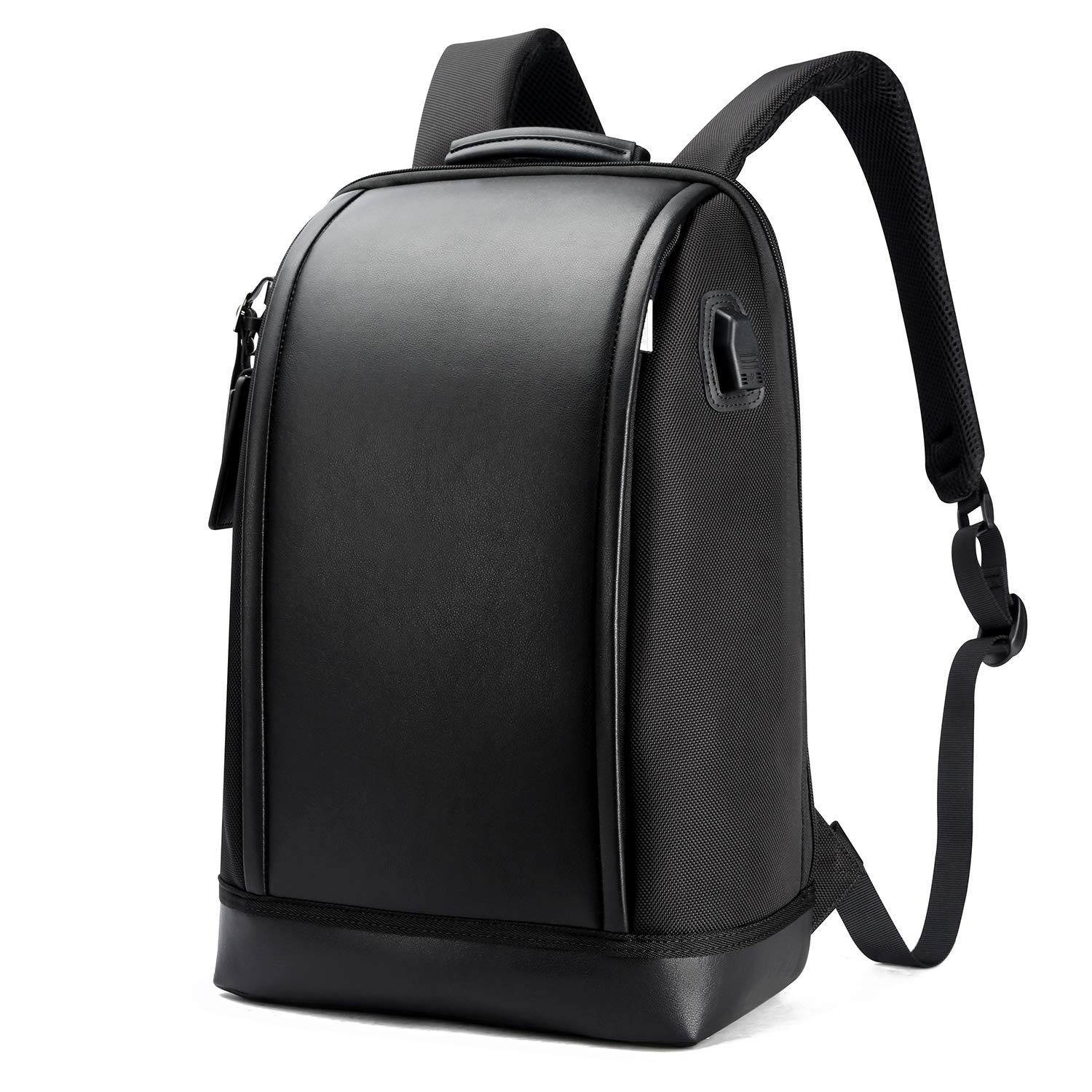 bf0012502fe8 BOPAI Business 15.6 inch Laptop Backpack Invisible Water Bottle Pocket  Anti-Theft Laptop Rucksack USB Charging Port and Anti-Explosion Zipper  Water ...