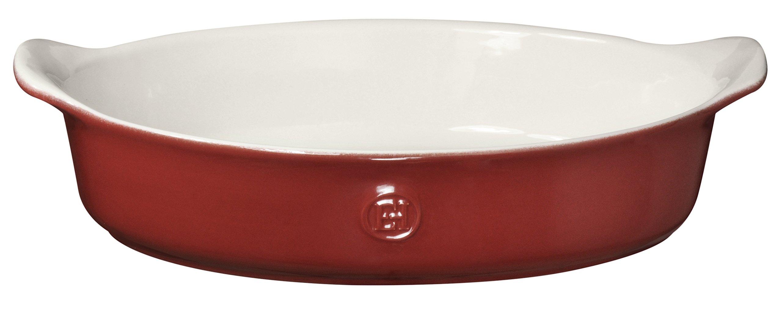 Emile Henry Made In France HR Modern Classics Oval Baker, 14.2 x 9.4'', Red