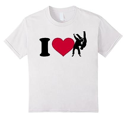 I Love Judo T Shirt Kinder Grosse 104 Weiss Amazon De Bekleidung