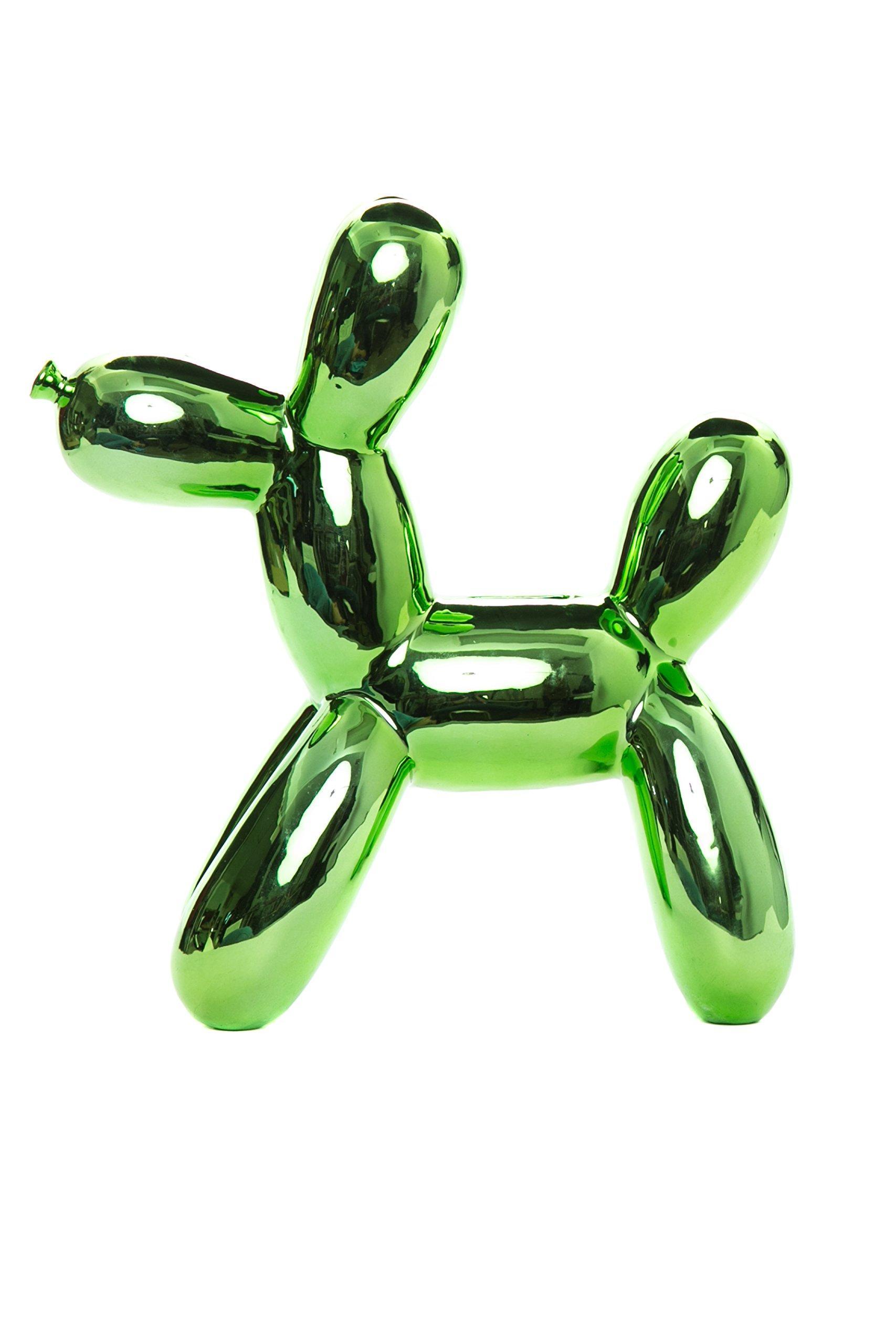 Interior Illusions Green Balloon Dog Bank
