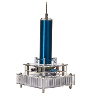 Joytech Music Tesla Coil Acrylic Base Shell Arc Plasma Loudspeaker Wireless Transmission Experiment Desktop Toy Model (YS05)