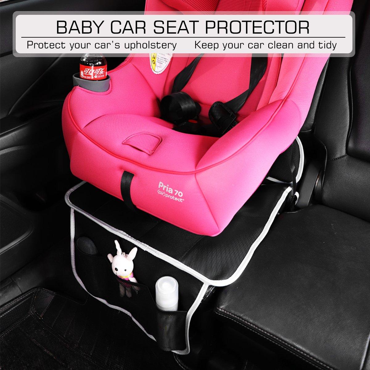Salcar Protector de asiento de coche para bebe Antideslizante, Protección para niño y asientos de coche, Protector para asiento trasero para bebés y niños ...