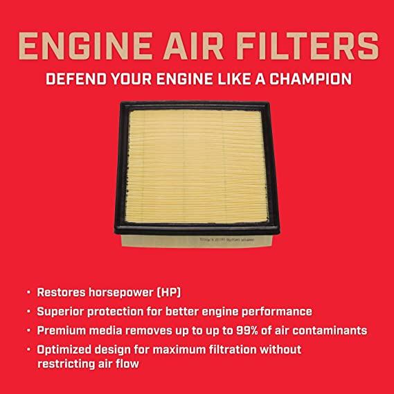 Champion CAP10755 Engine Air Filter Federal Mogul