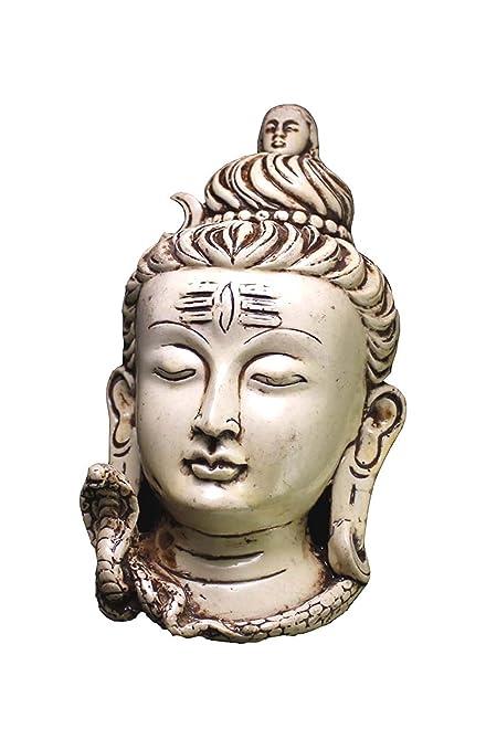 Amazon Com Craftstore14 Resin Shiva Shivji Mask Wall Hanging