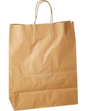 Generic Natural Kraft Paper Retail Shopping Bags with Rope Handles 13 x 7 x  17 Inches 2bdeceee3d
