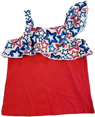 Girl/'s Patriotic T-Shirt Dress Little Girl/'s Dress