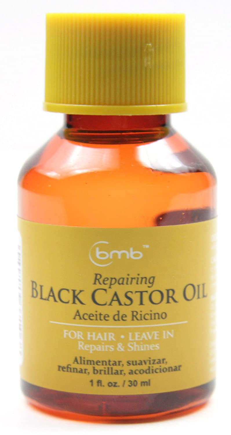 Amazon.com : BMB Repairing Oil For Hair Leave in Repair Treatment 1 Oz Selection (BLACK CASTOR OIL) : Beauty