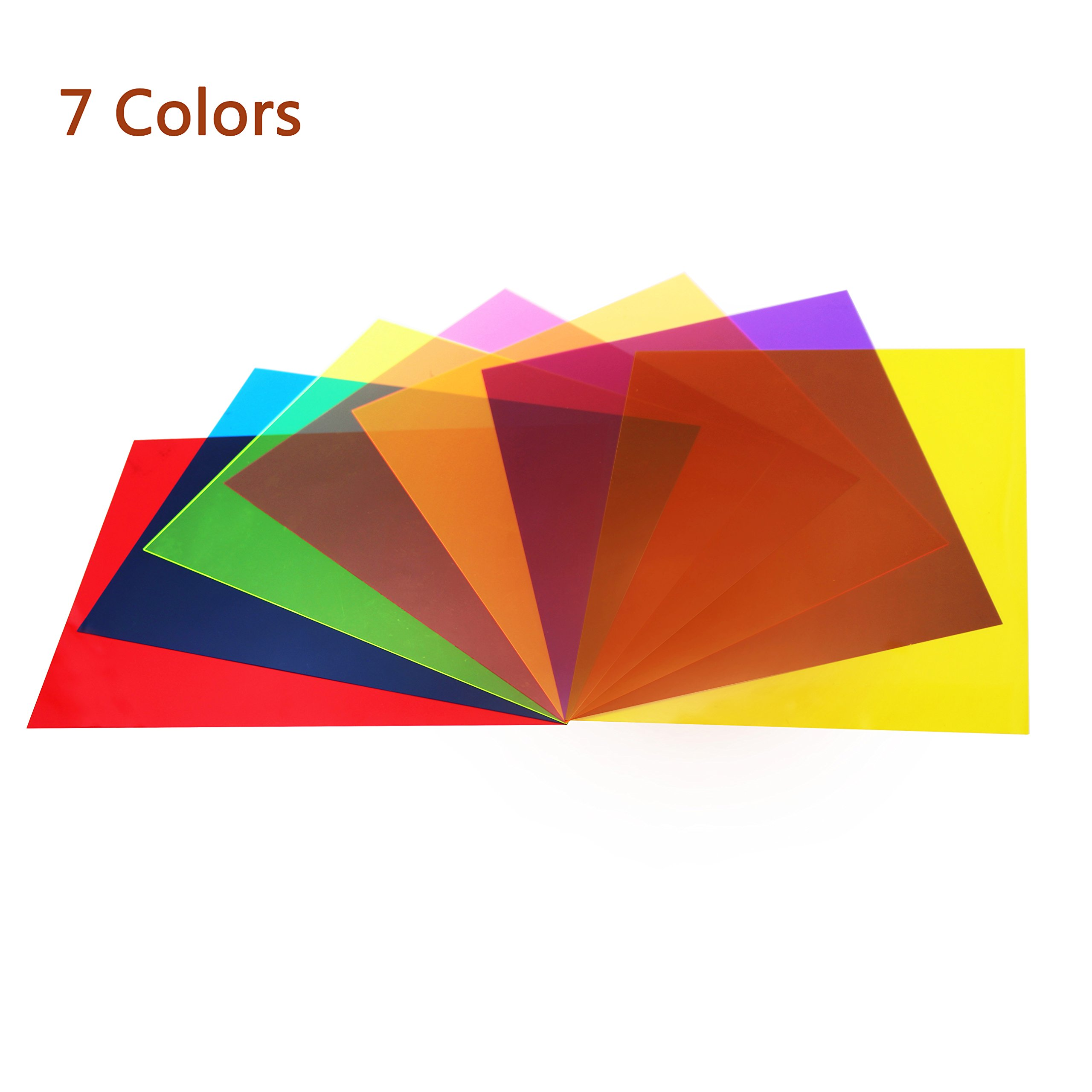 Etyhf 14 Pack Colored Overlays Transparency Color Film Plastic ...