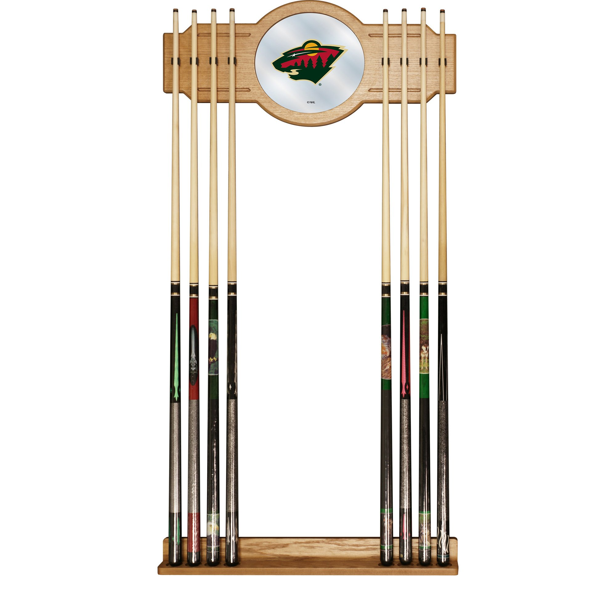 Trademark Gameroom NHL Minnesota Wild Cue Rack with Mirror