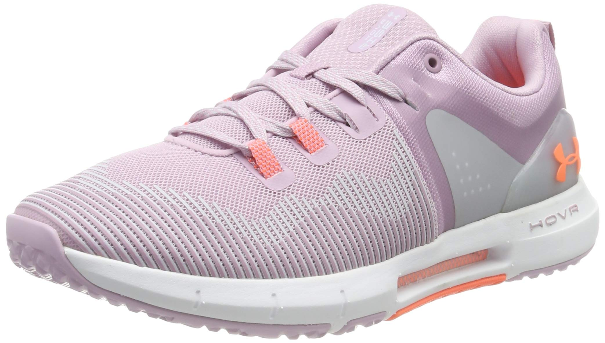 Under Armour Women's HOVR Rise Cross Trainer, Pink Fog (601)/White, 8.5 by Under Armour