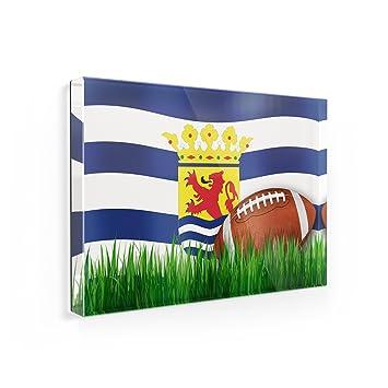 Imán para nevera de fútbol con bandera zelanda (Sealand) región ...