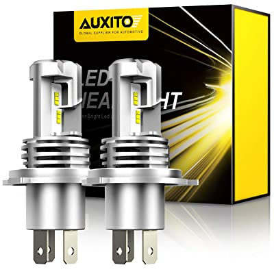 AUXITO H4 9003 LED Headlight Bulbs, 12000LM Per Set 6500K Xenon White for High and Low Beam Hi/Lo Plug and Play, Pack of 2: Automotive