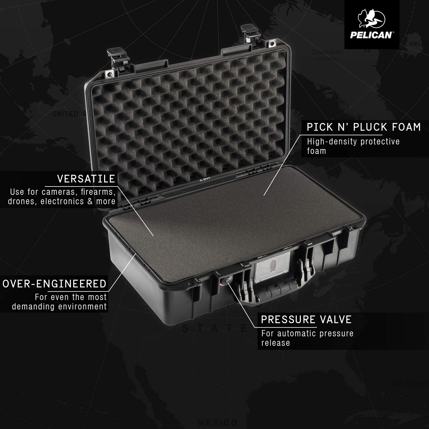 Pelican Air 1525 Case With Foam (Black) by Pelican (Image #3)