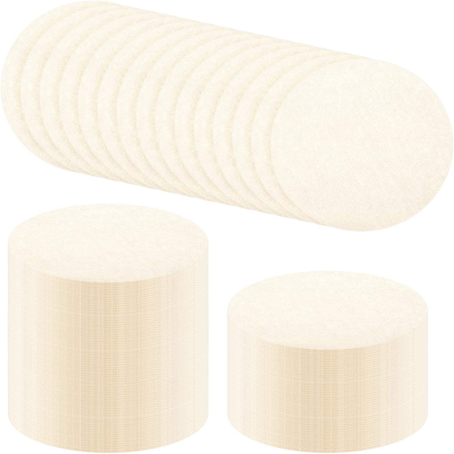 White, 500 Pieces Replacement Paper Filters Paper Coffee Filter Round Coffee Maker Filters Compatible with Aerobie Aeropress Coffee and Espresso Makers