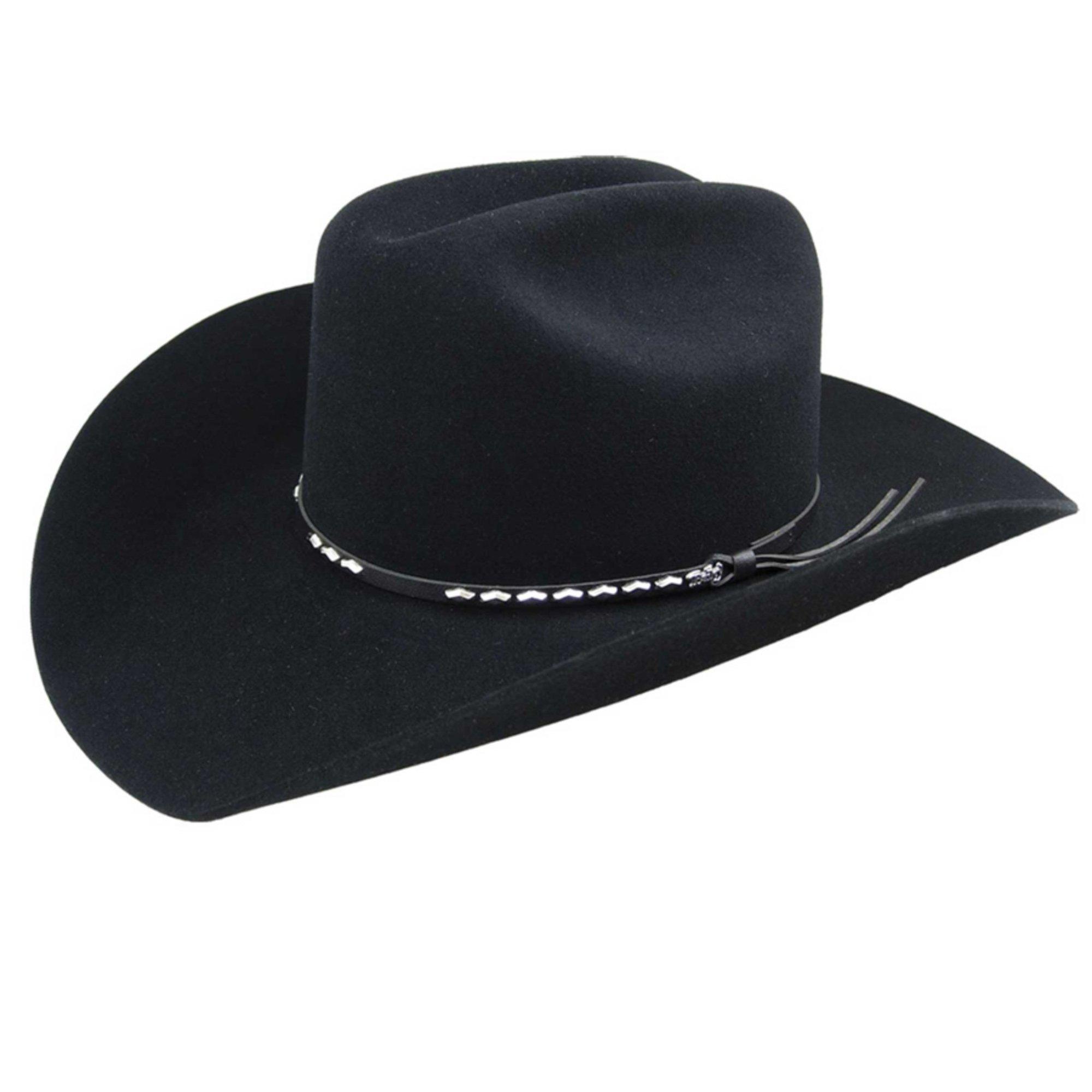 Bailey Western Mens 4429 Alamo Cowboy Hats, Black - 7 '1/2'