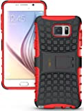 Heartly Flip Kick Stand Spider Hard Dual Rugged Armor Hybrid Bumper Back Case Cover For Samsung Galaxy Note 5 - Hot Red