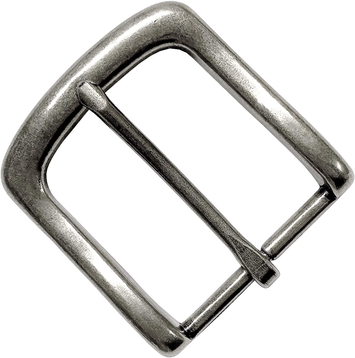 """Simple Metal Buckle Single Prong Square Belt Buckle Width 1 1/2"""" (38 Mm) (Ant. Silver): Clothing"""