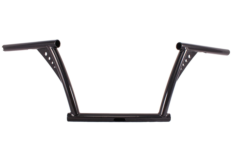 TC9.BLACK CUSTOM APE HANGER RISE 8' HANDLEBARS 4 HARLEY FXST XL FLST SPORTSTER usa-biker.com TC9 BLACK