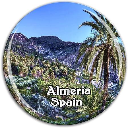 Weekino Parque Natural Nihal Almería España Imán de Nevera Cristal 3D Cristal Ciudad Turística Recuerdo de Viaje Colección Regalo Fuerte Refrigerador Etiqueta: Amazon.es: Hogar