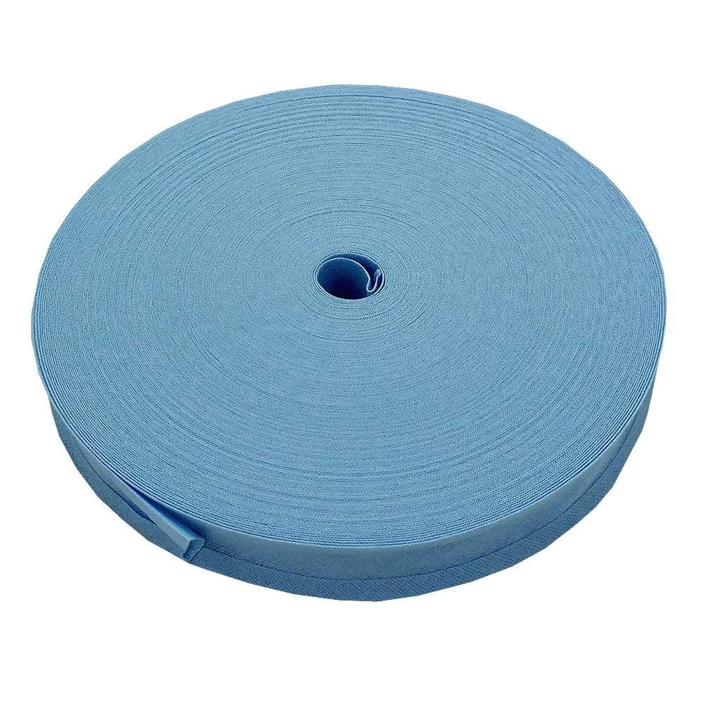 25mm Bias Binding Tape Trim 100% Cotton - Sky Blue - 5m The Bead Shop