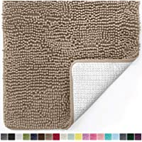 Gorilla Grip Original Luxury Chenille Bathroom Rug Mat, Extra Soft, Durable, and Absorbent Shaggy Rugs, Machine Wash Dry, Perfect Single Plush Carpet Mats for Tub, Shower, and Bath Room