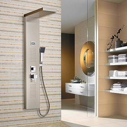 Columna de hidromasaje para ducha, Claramente muestra la temperatura del agua. de baño cabezal