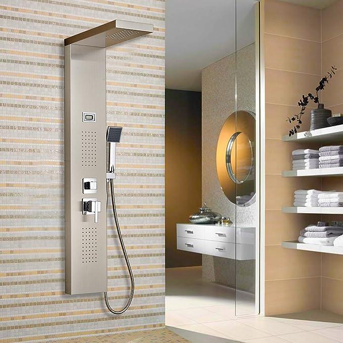 Columna de hidromasaje para ducha, Claramente muestra la temperatura del agua. de baño cabezal de ducha.