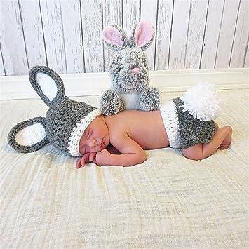 ZZHK Baby Photography Props Fotografía de bebé Disfraces de Conejo ...
