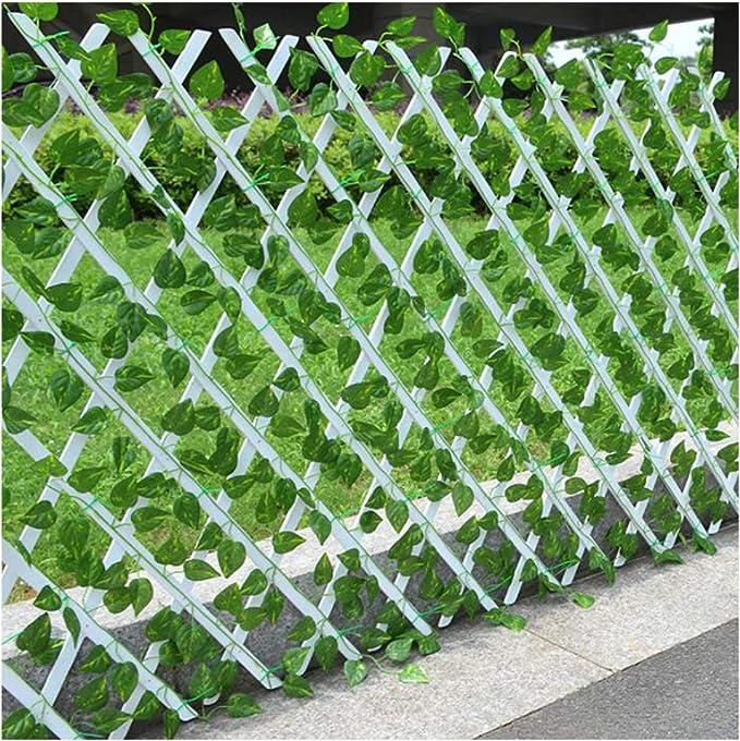 YOGANHJAT Celosia Madera Extensible Madera Pared Enrejado expansión jardín Ideal para decoración Exterior Valla jardín Planta Apoyo Pannels enrejados Blanco,Blanco,150 * 52cm/59 * 20.4in: Amazon.es: Hogar