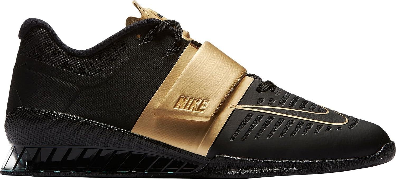 official photos 08c5b d316d Nike Romaleos 3 X Mens Weightlifting Shoes (14) BlackMetallic Gold  Amazon.ca Shoes  Handbags