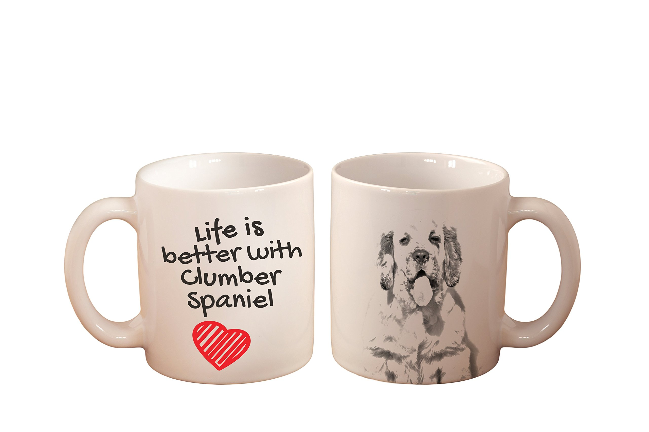Clumber Spaniel, mug with a dog,, cup, ceramic, new collection 1