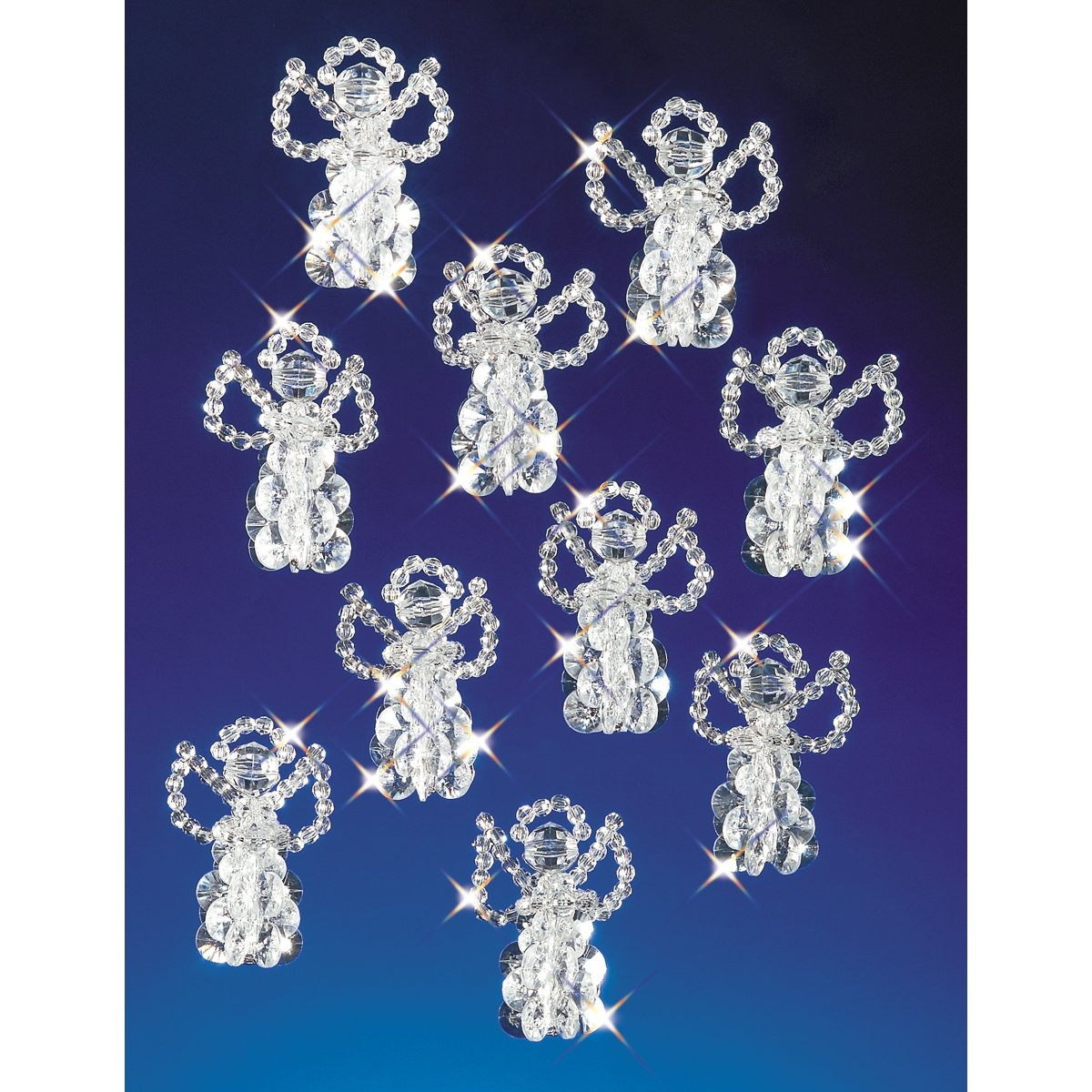 Beadery Holiday Beaded Ornament Kit, 2.5-Inch, Little Angels, Makes 18 Ornaments Darice BDR888905