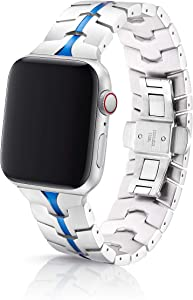 42/44mm JUUK Vitero Sapphire Premium Watch Band Made for The Apple Watch, Using Aircraft Grade, Hard Anodized 6000 Series Aluminum with a Solid Stainless Steel Butterfly deployant Buckle (Matte)