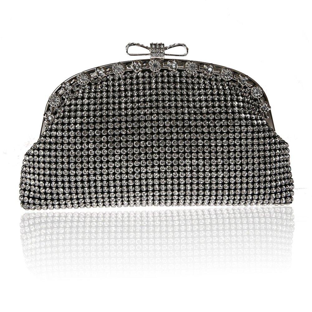 European fashion rhinestone bag bow buckle handbag Banquet package-A