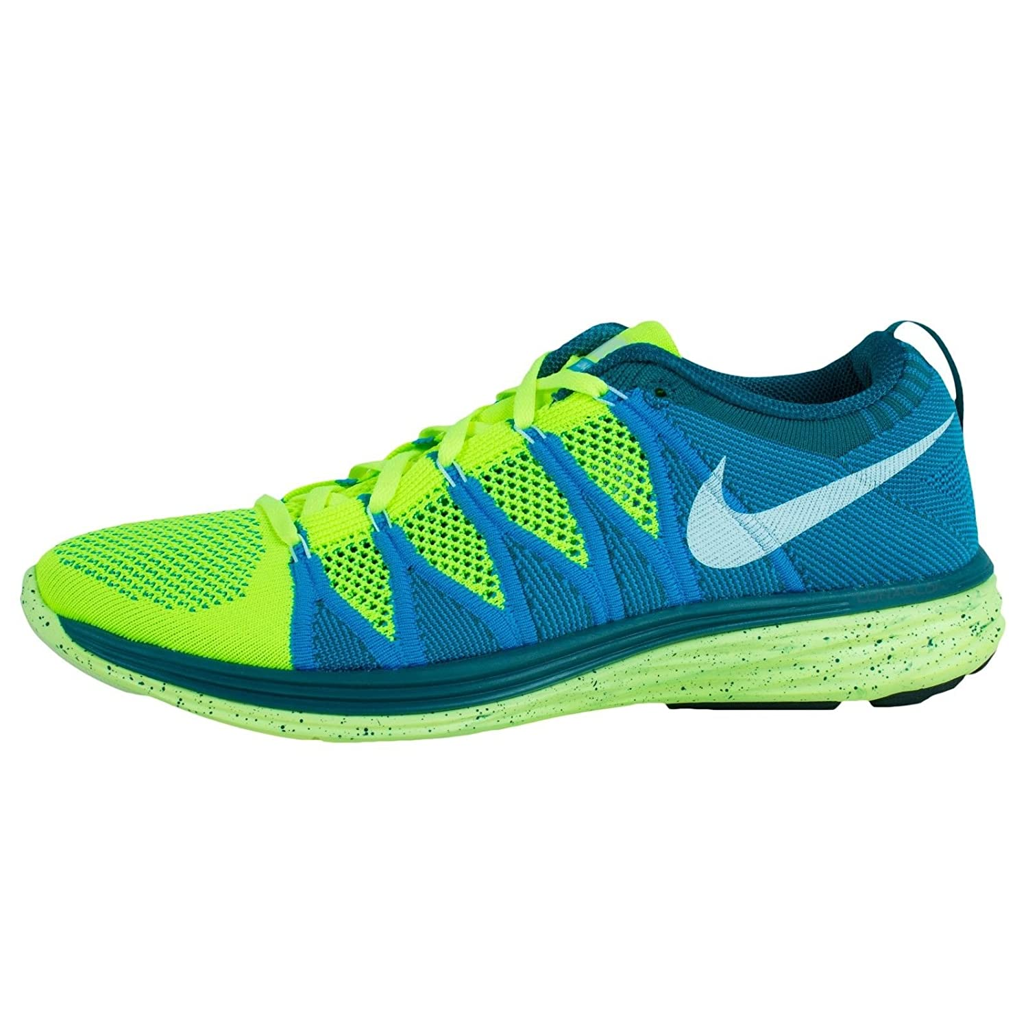 7ead9ede8aed Nike Flyknit Lunar2 Mens Running Shoes 620465-714 Volt 10. 5 M US  Buy  Online at Low Prices in India - Amazon.in