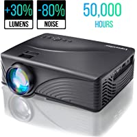 Mogomiten Portable Video Projector 2000 Lumen 1080P Mini Projector Support HDMI USB