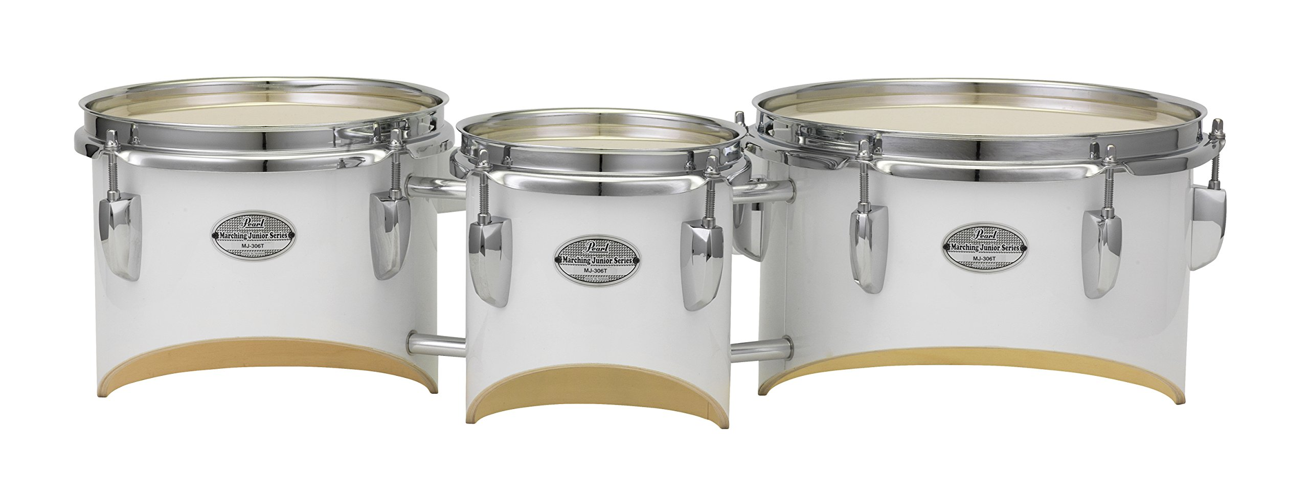 Pearl MJT680/CXN33 Junior Marching Trio Set 6''x6.5'', 8''x6.5'', 10''x6.5'' and Carrier by Pearl