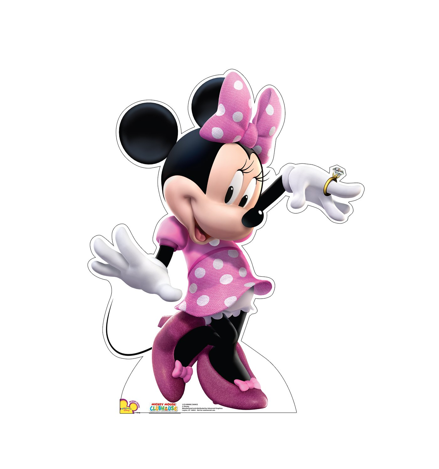 Advanced Graphics Minnie Dance Life Size Cardboard Cutout Standup - Disney's Mickey Mouse Clubhouse