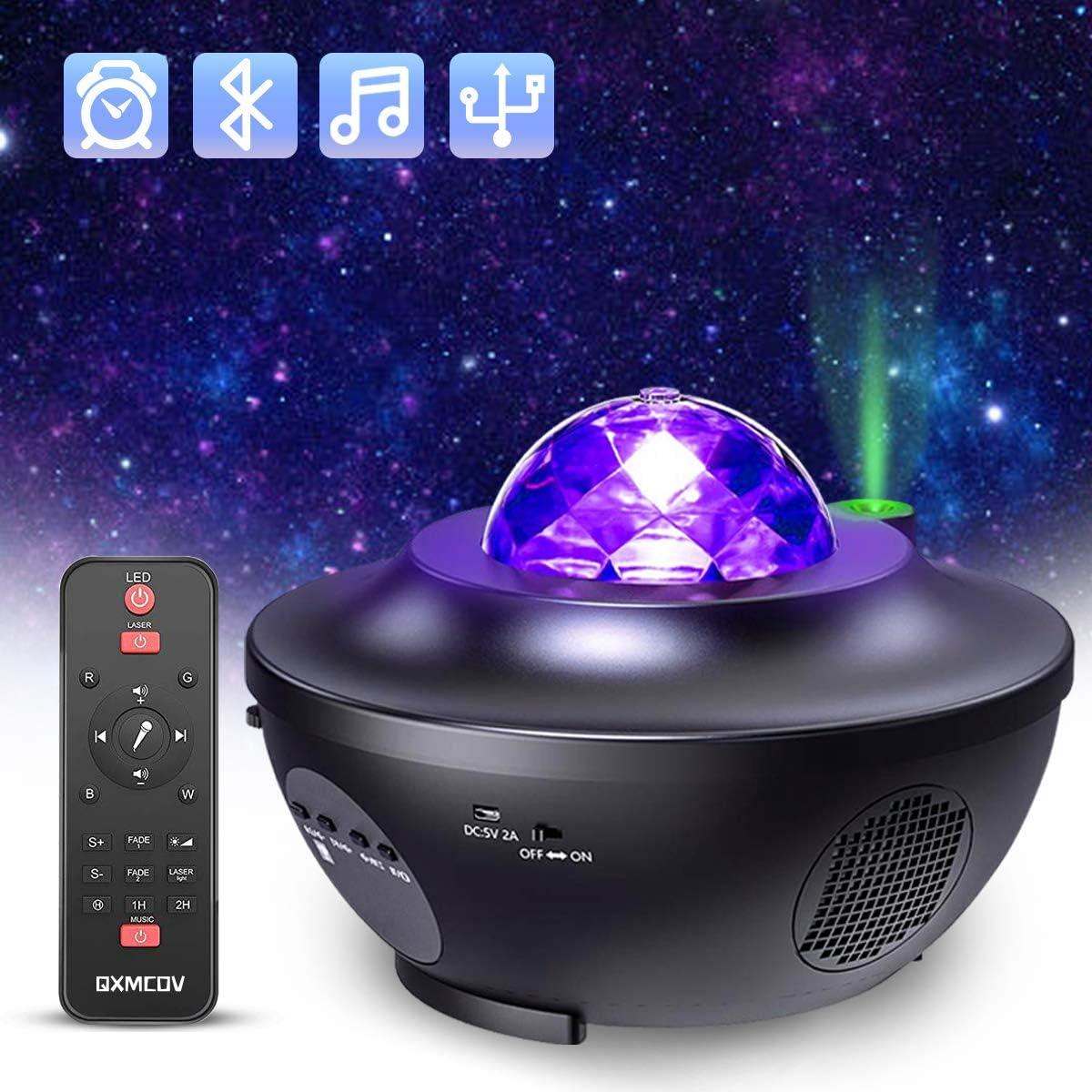 Proyector Estrellas Galaxia, Proyector Lámpara de Mesa Infantil Oceano con 21 Modos & Control Remoto & Temporizador & Altavoz & Bluetooth, Luz bebé nocturna, Luces Decorativas Habitaci