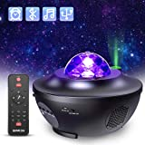 Proyector de Luz Estrellas Galaxia, Lámpara Giratorio de Mesa Infantil con 21 Modos & Control Remoto & Temporizador…